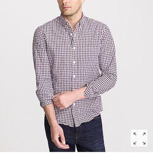 JCrew Men's Tattersall Slim Flex Casual Shirt